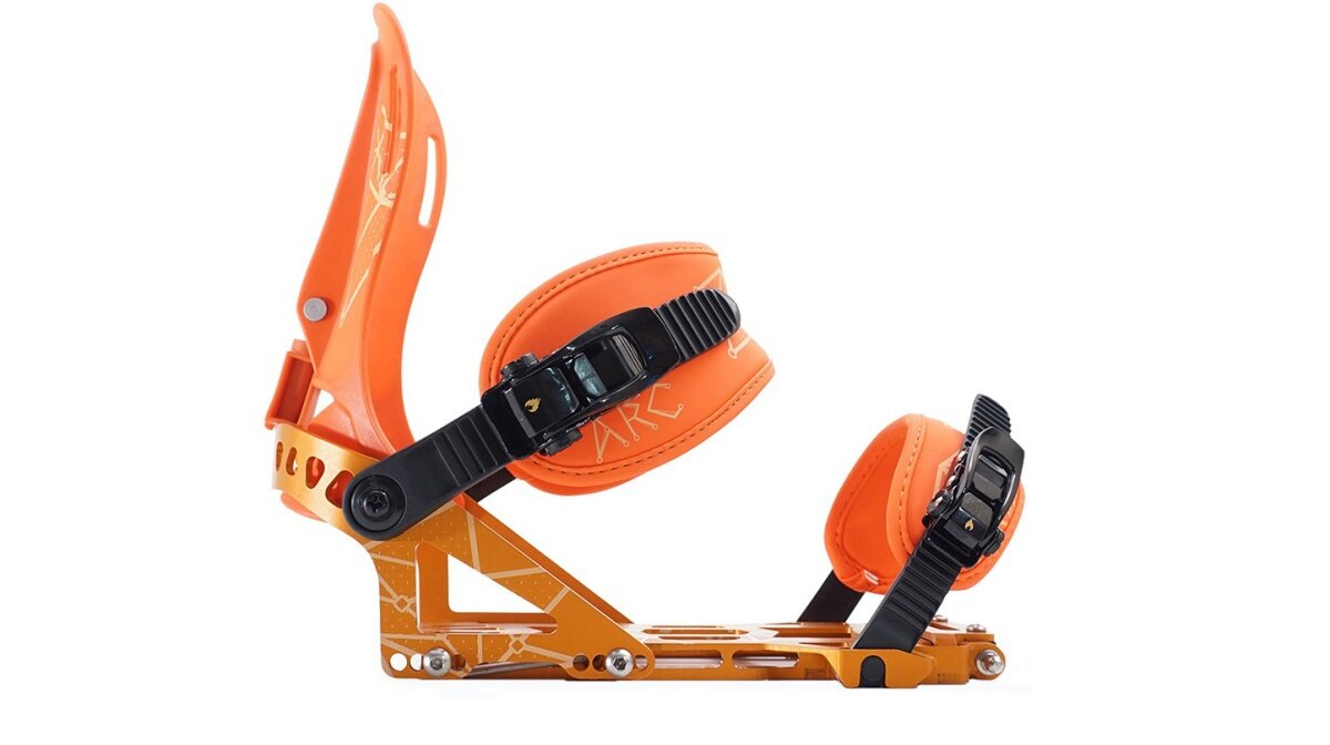 orange snowboard bindings