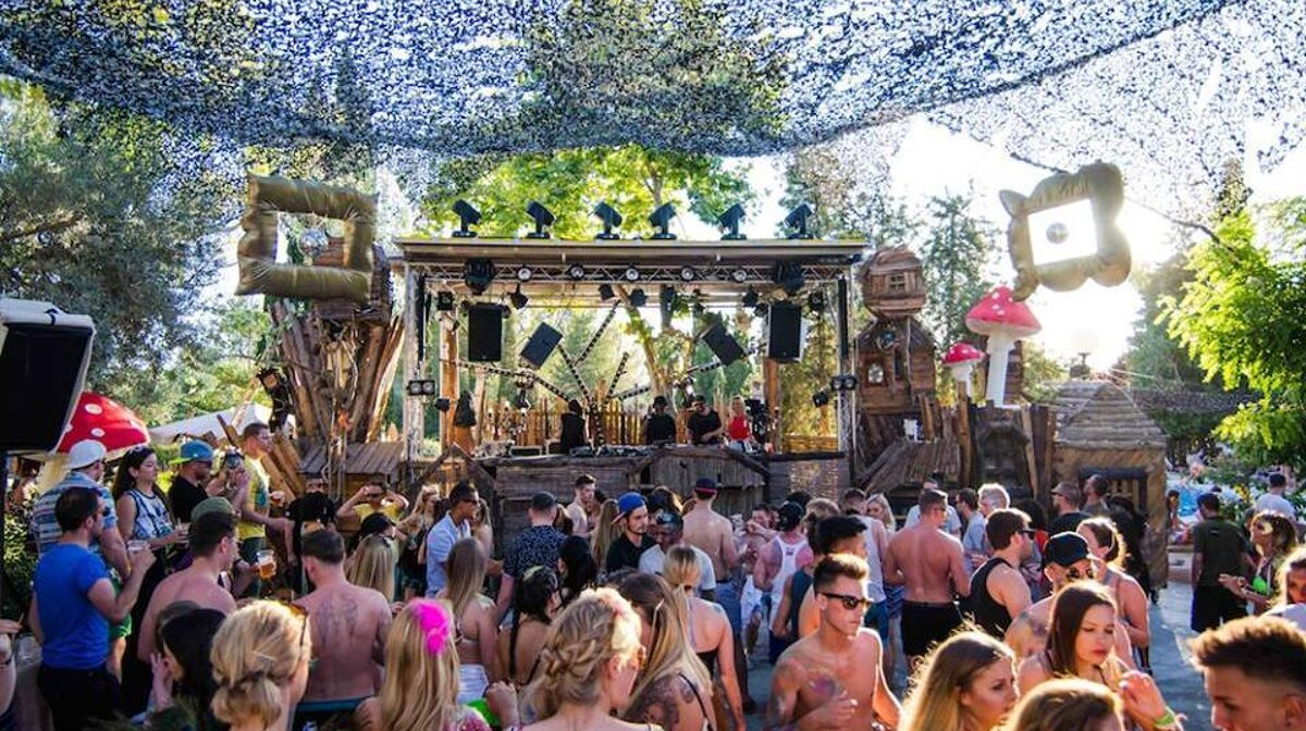 the treehouse stage at the zoo project in san antonio ibiza