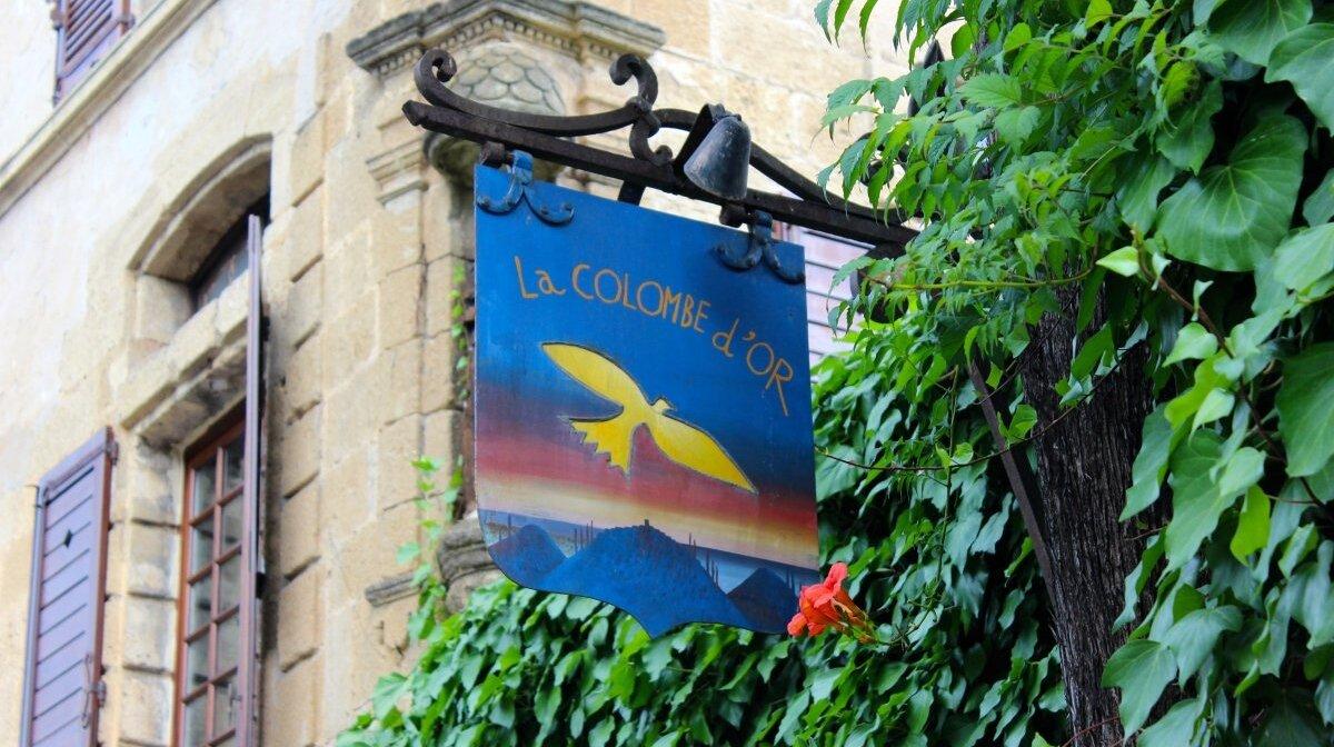 Saint Paul De Vence Art la colombe d'or restaurant, st paul de vence | seeantibes