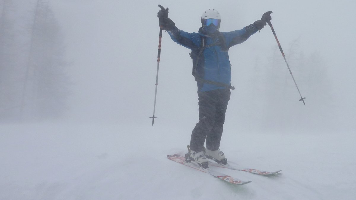 Bad Weather Skiing Val d'Isere