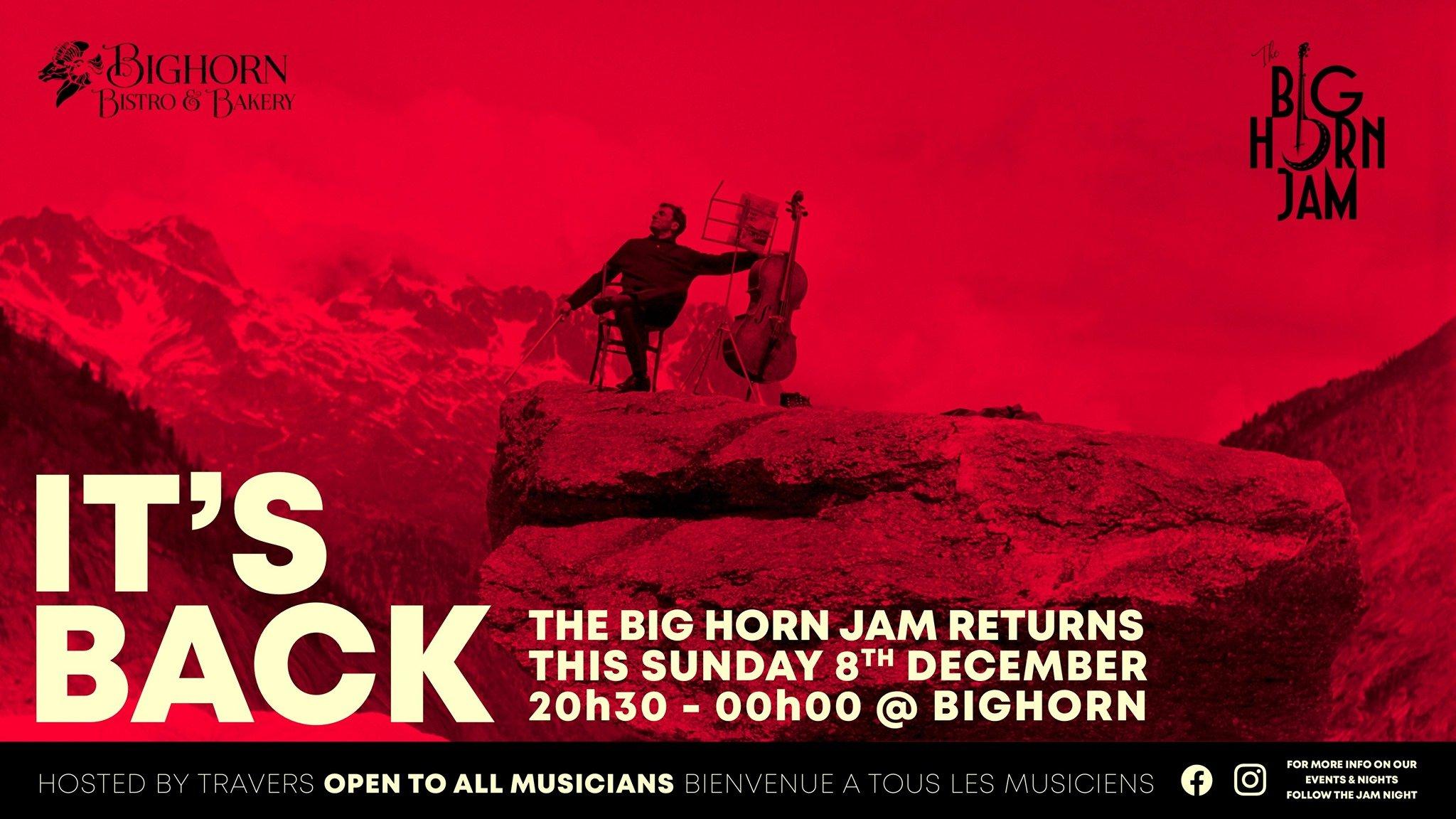 Tasty Jams - Sunday Jam Sessions at Bighorn, Chamonix