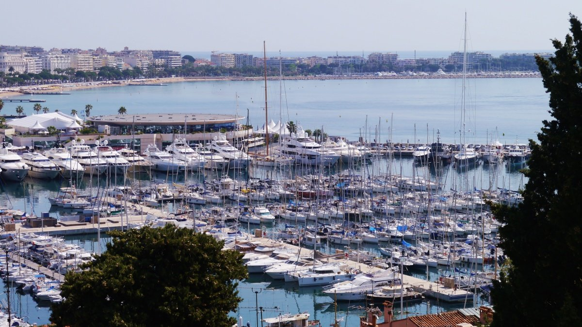 yachts in the old port of cannes