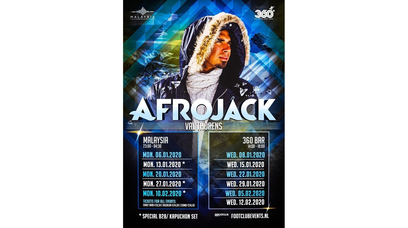 Afrojack in Concert at Le Malaysia & 360 Bar, Val Thorens