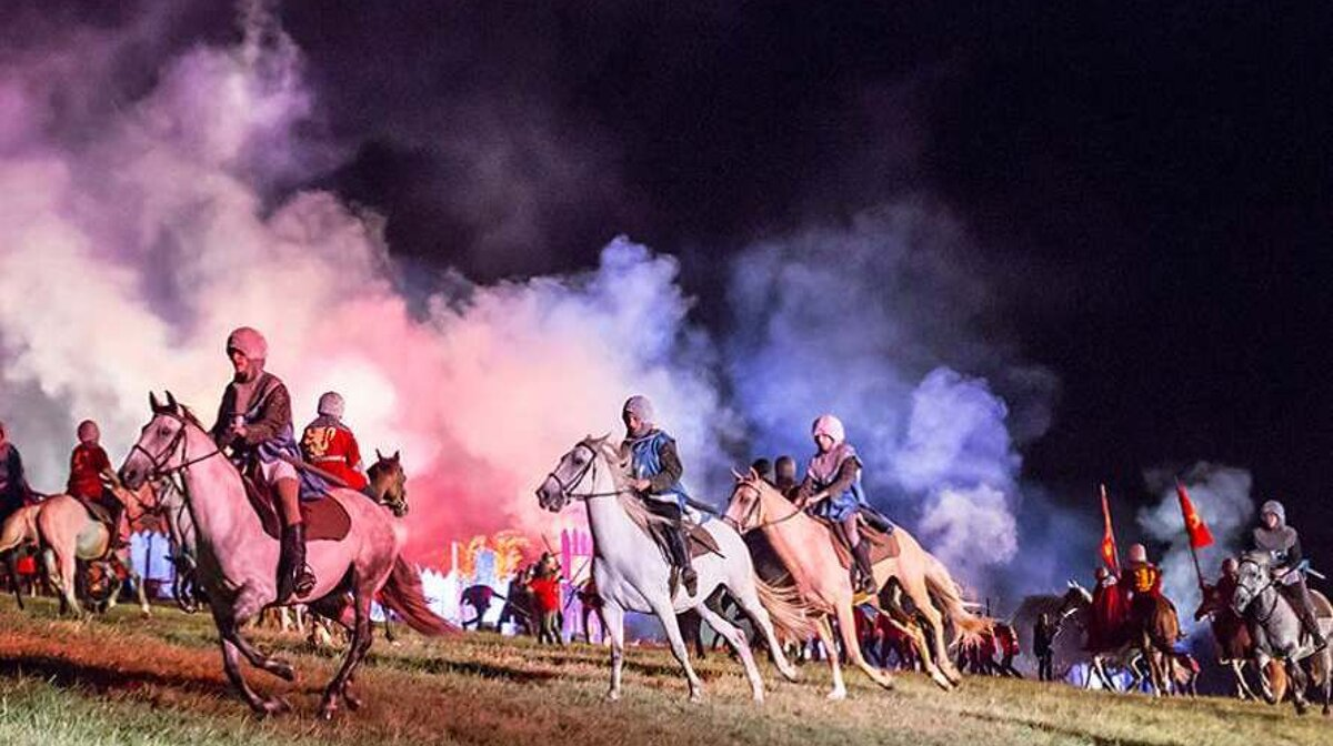horses and special effects at battaille de castillon