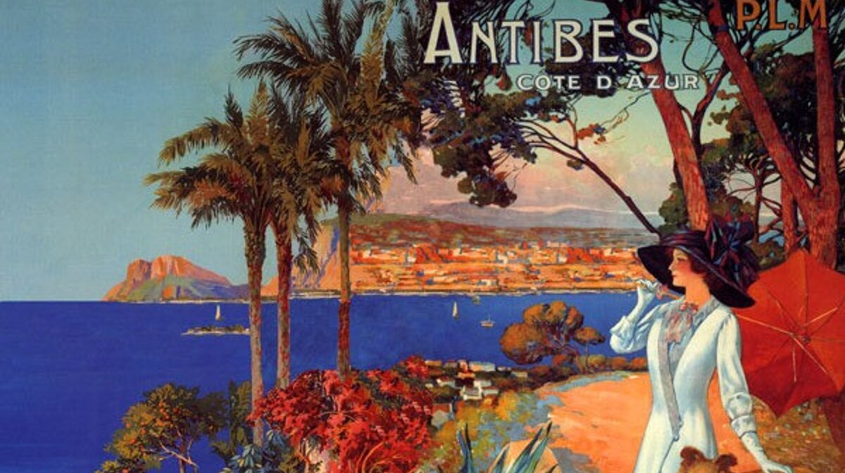 Antibes - Ladies travel poster