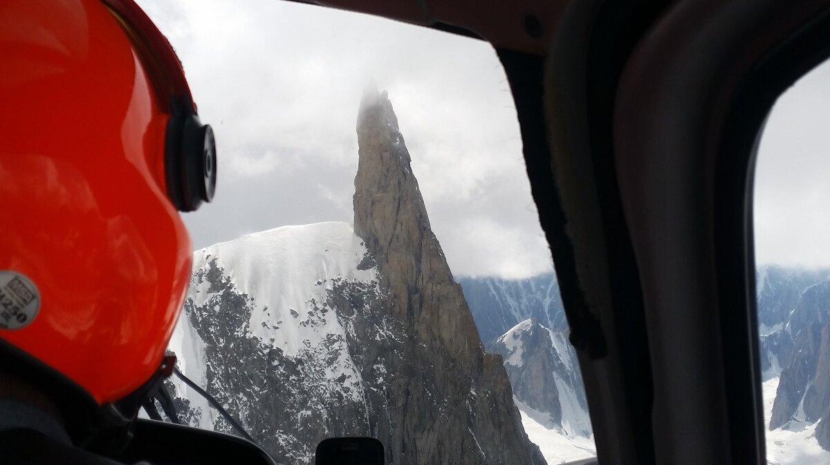 a spikey mountain in chamonix