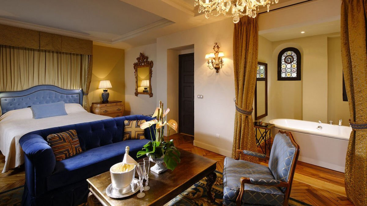 a suite in the chateau eza hotel in eze