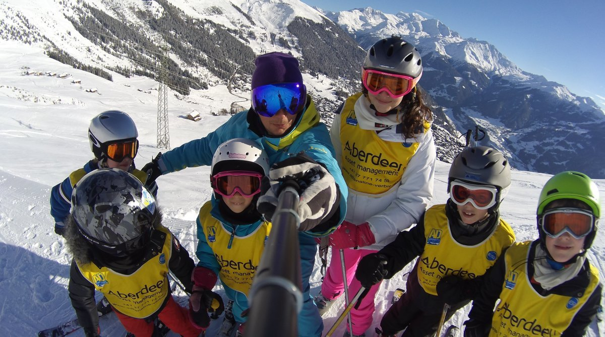 Adrenaline Ski School Group Lessons, Verbier kids lessons