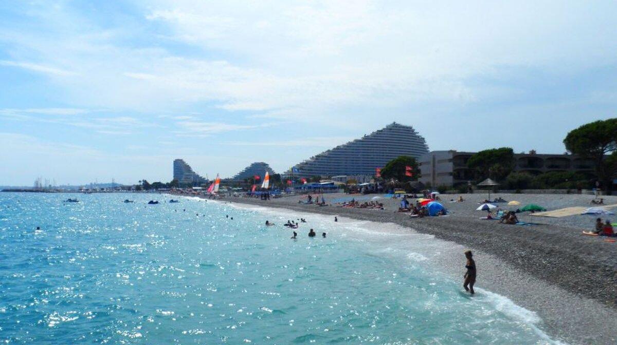 Plage De La Batterie Beach Villeneuve Loubet Seenice Com
