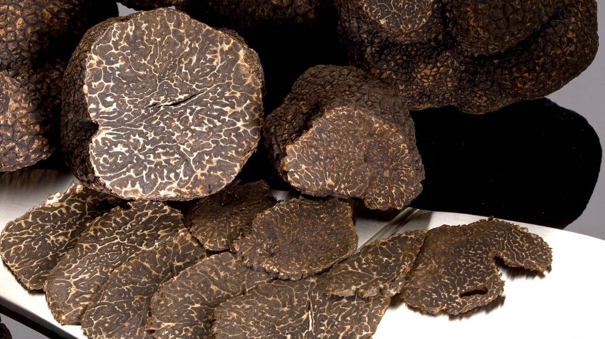 truffles on a plate - cut into sections