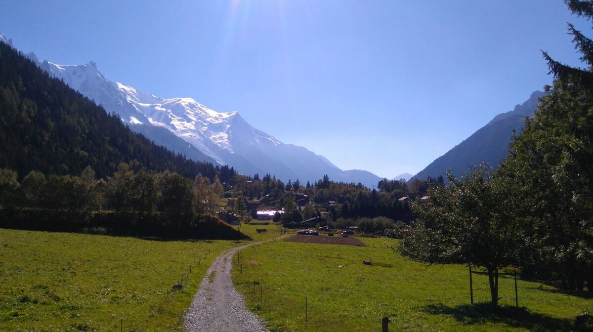 a view of mont blanc