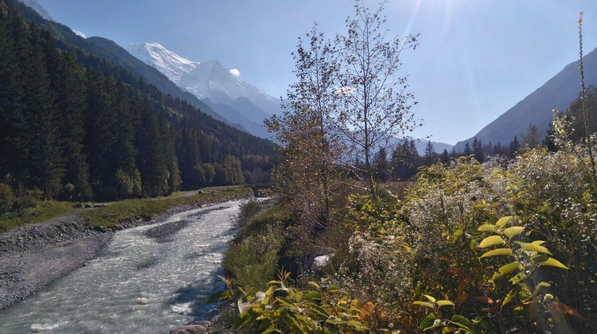 a river in chamonix