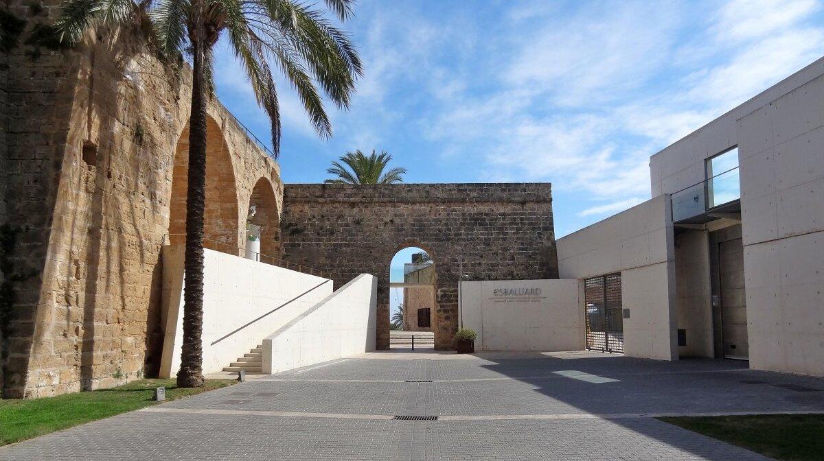 the exterior of the es baluard art museum in palma mallorca