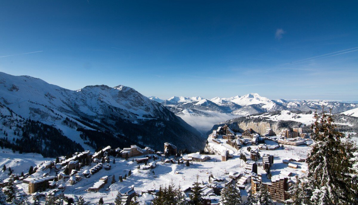 a view over Avoriaz in winter