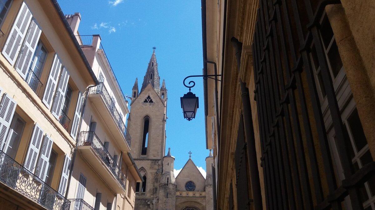 a narrow street in provence