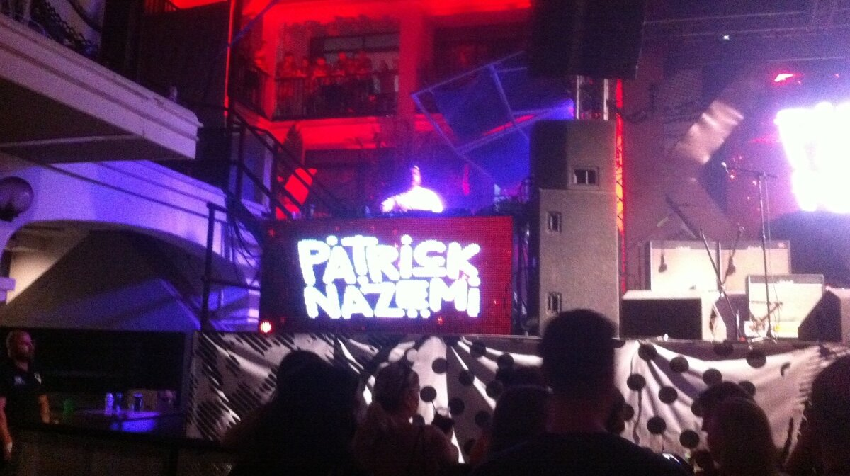 Patrick Nazemi on stage at ibiza rocks in san antonio