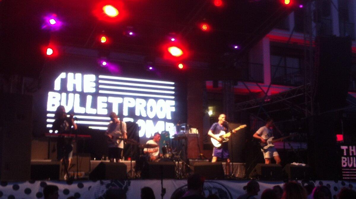 The Bulletproof Bombs on stage at Ibiza rocks in san antonio