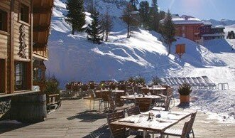 Le Carlina Restaurant, Belle Plagne restaurant terrasse