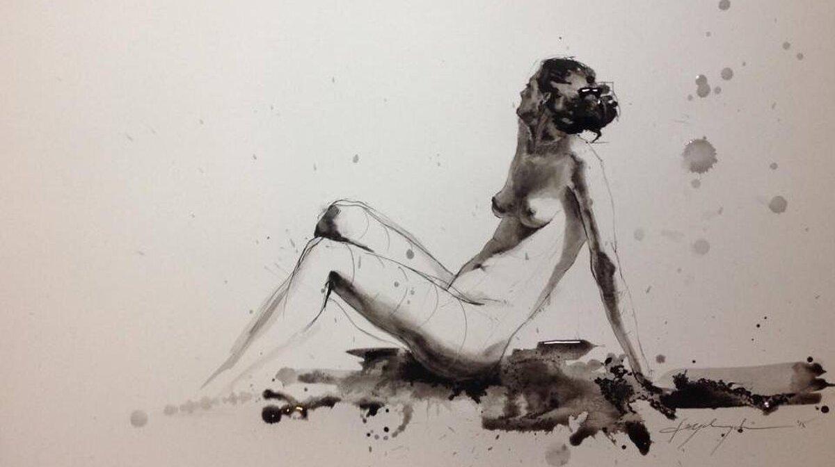 a life drarwng of a woman