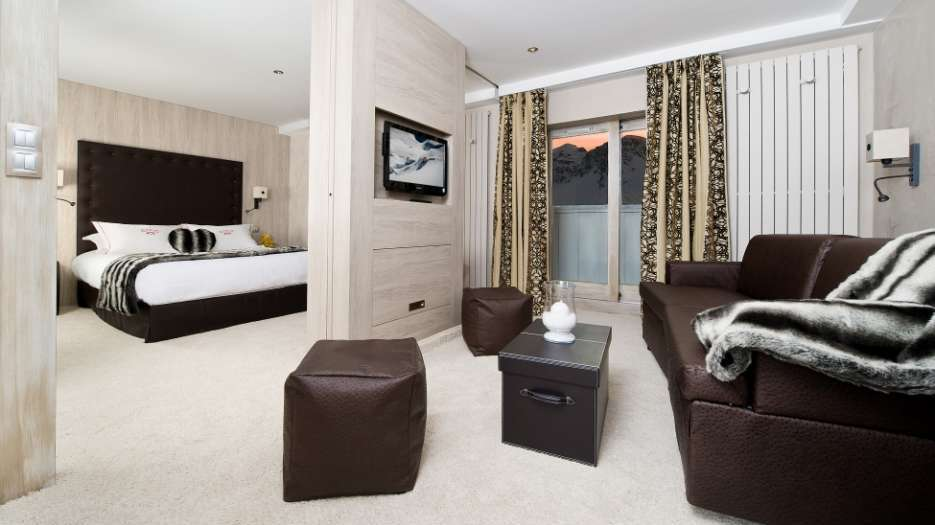 a picture of a hotel suite at Top Hotels in Tignes for any budget
