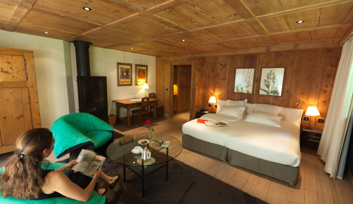 a picture of a hotel suite at Le Hameau Albert 1er Hotel, Chamonix