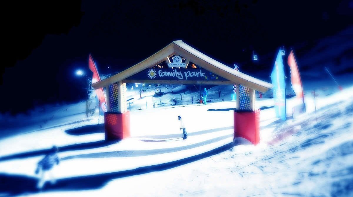 a fun park on the snow in Courchevel