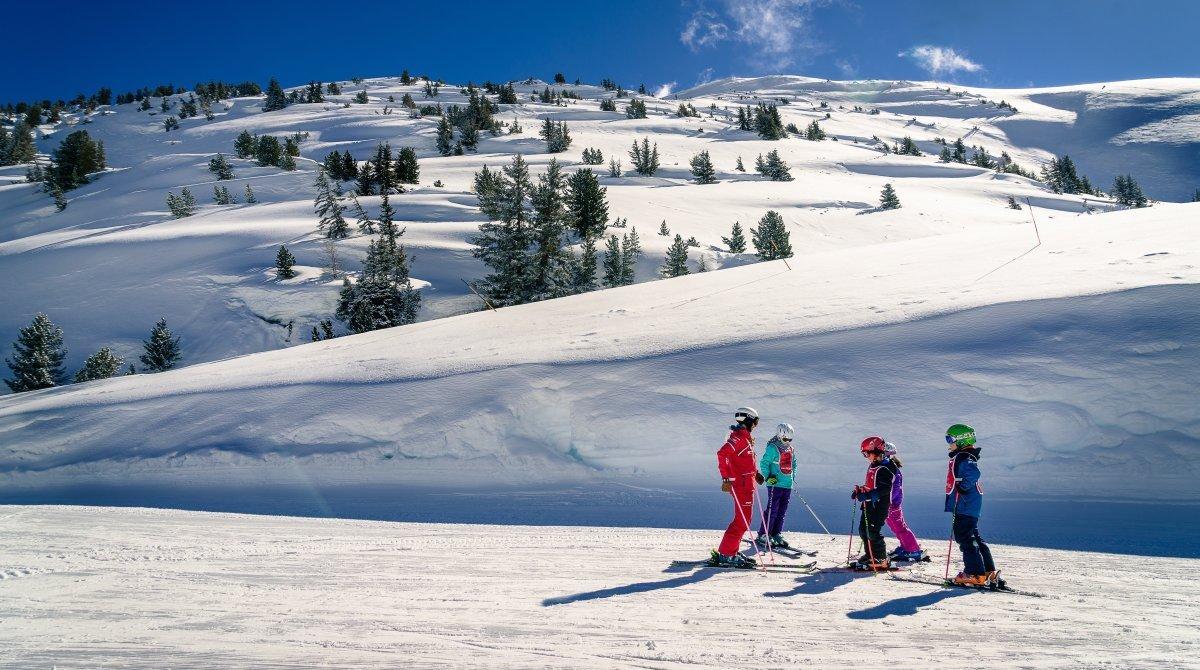 ESF Vallorcine Ski School Group Ski Lessons, Chamonix