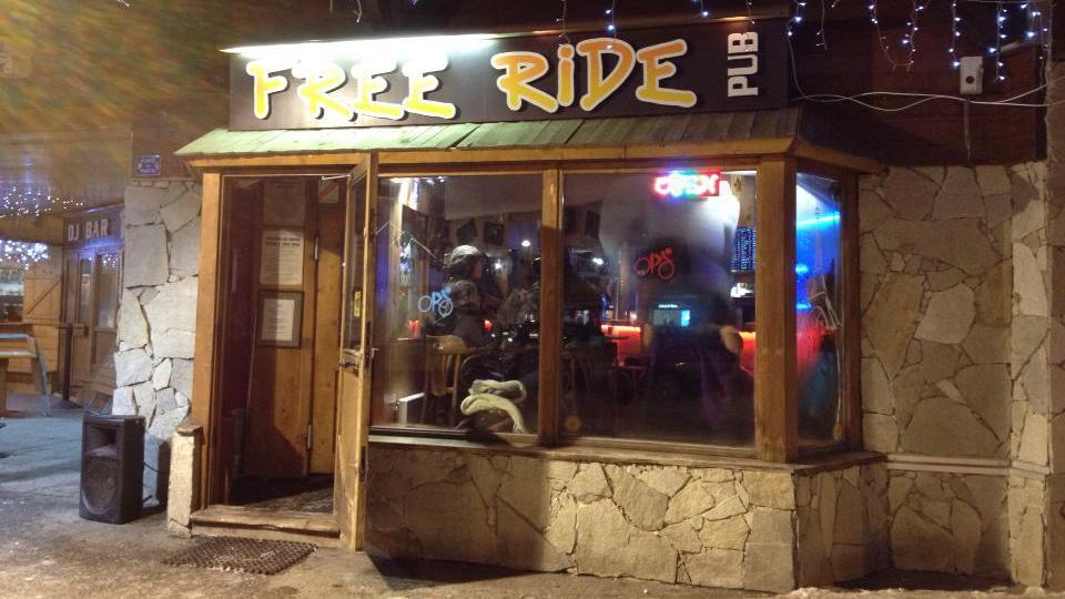 FreeRide Cafe Bar, Alpe d'Huez exterior