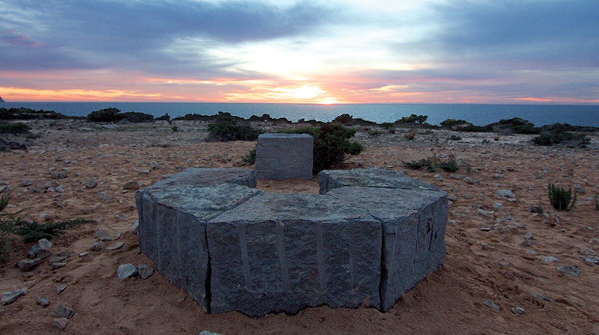 Stonehenge at sunset in ibiza