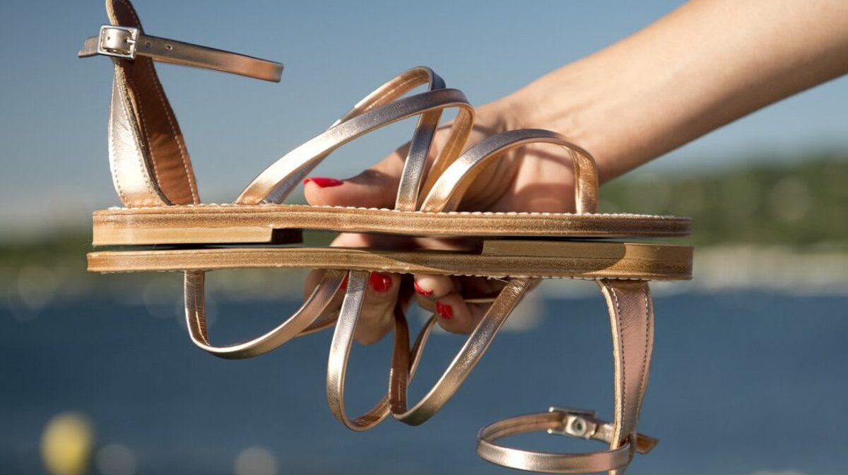 leather sandal by k.Jacques in saint tropez