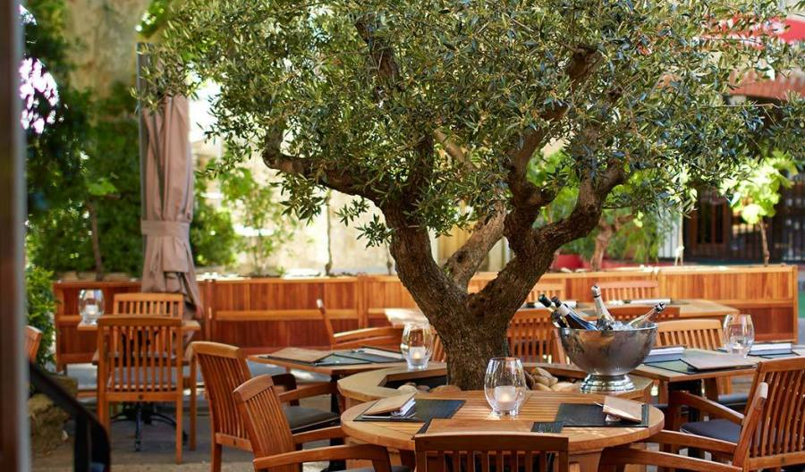L'Oustalet, Gigondas restaurant terrasse