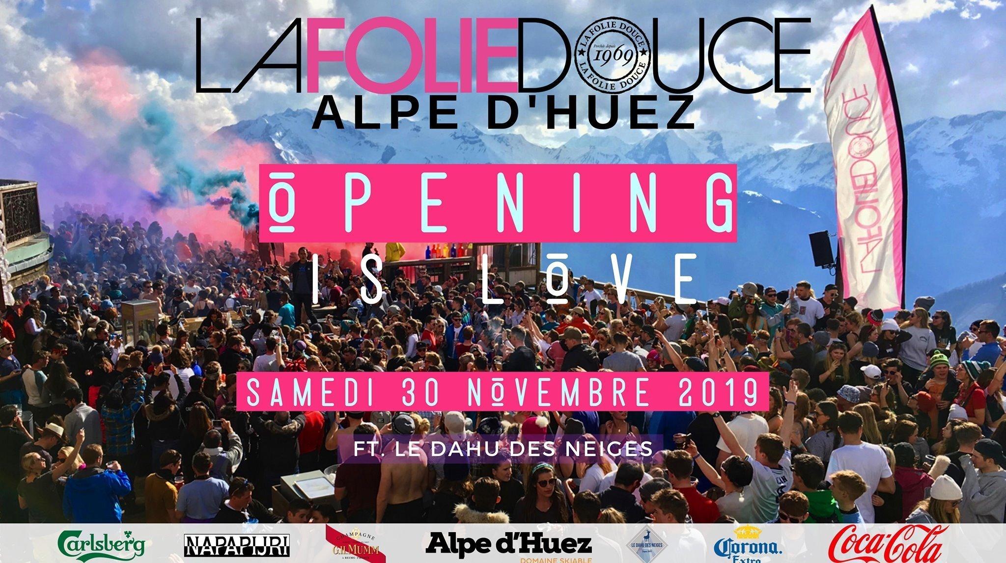 Season opening party at La Folie DOuce