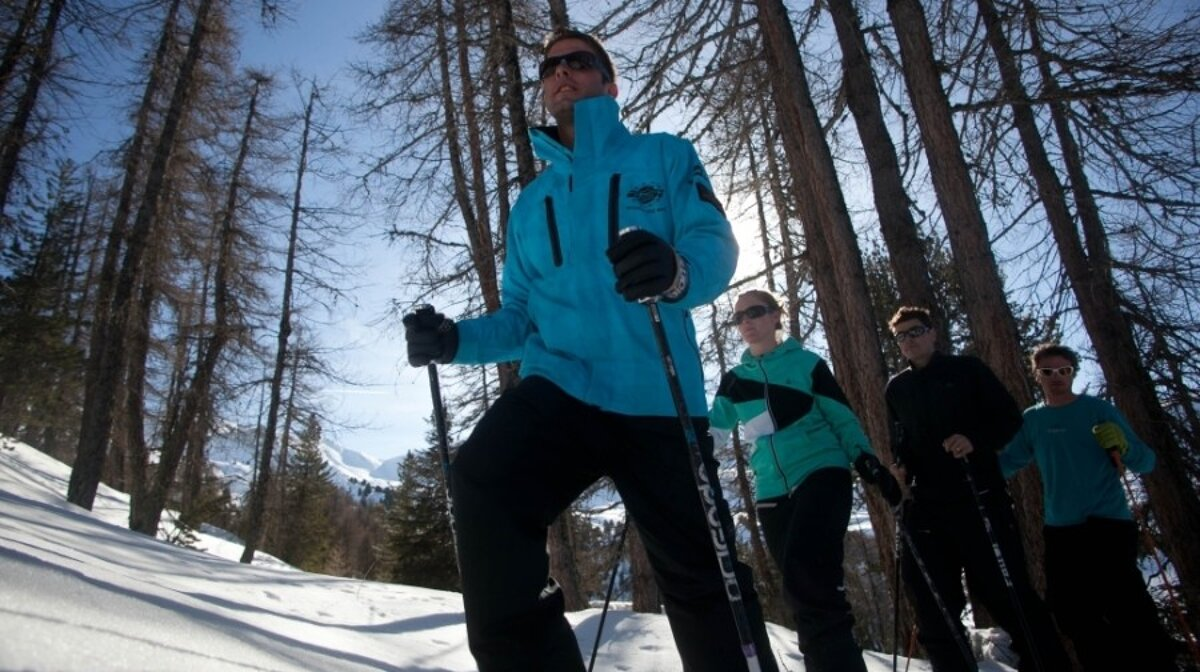 winter waling in forests around la plagne