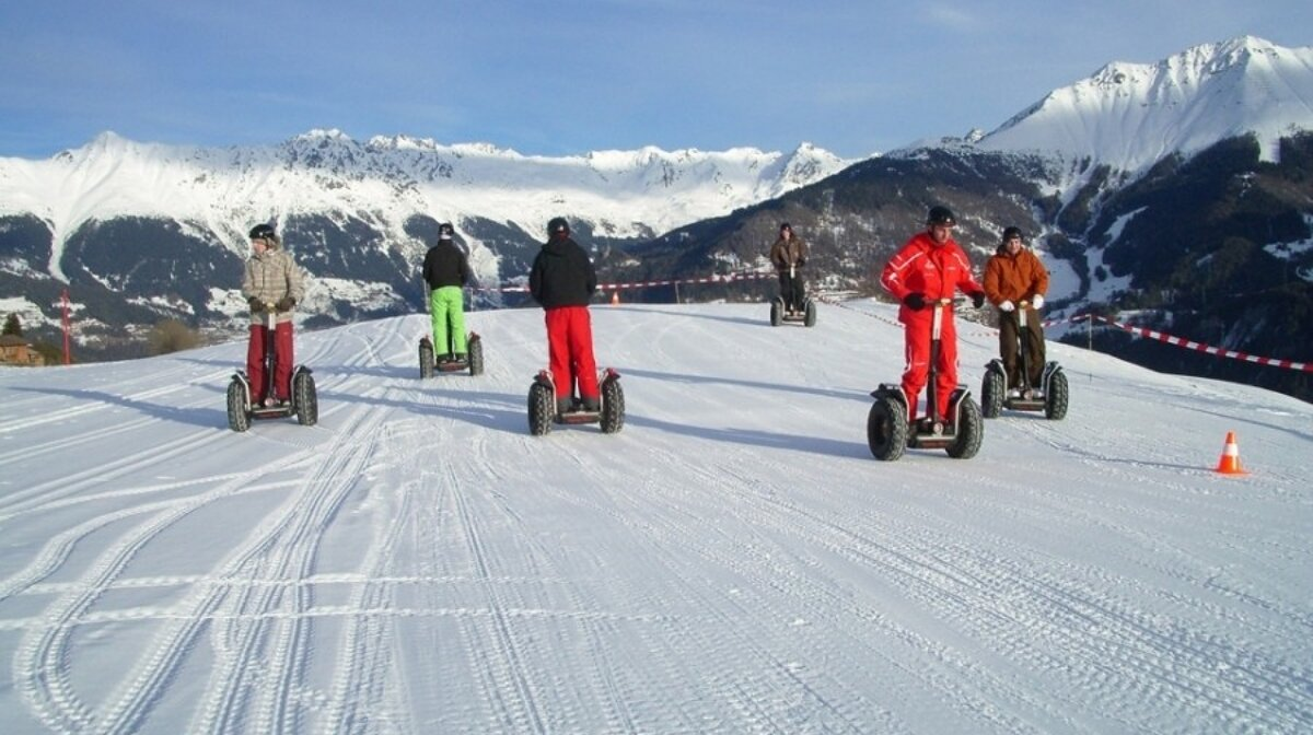 segways on the snow in courchevel