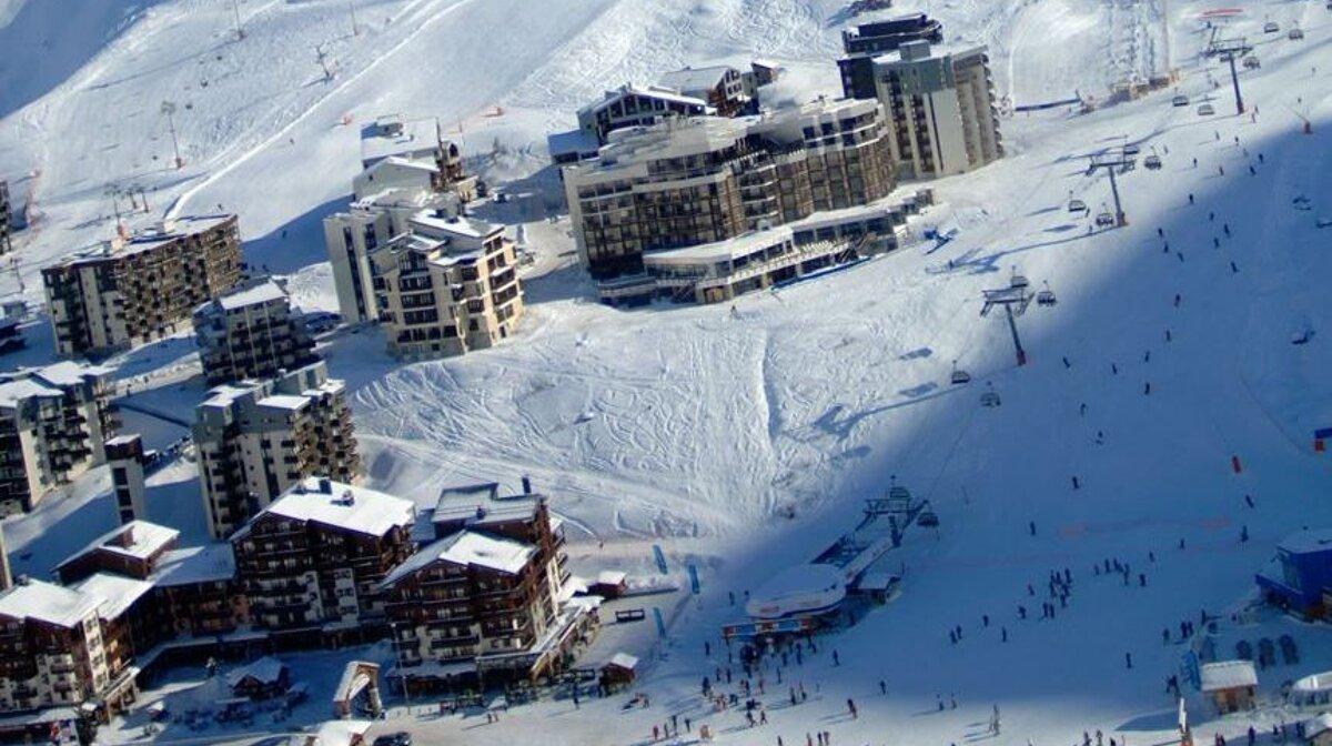 ski area in val claret