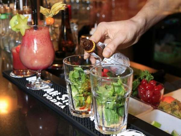 image of some drinks on a bar
