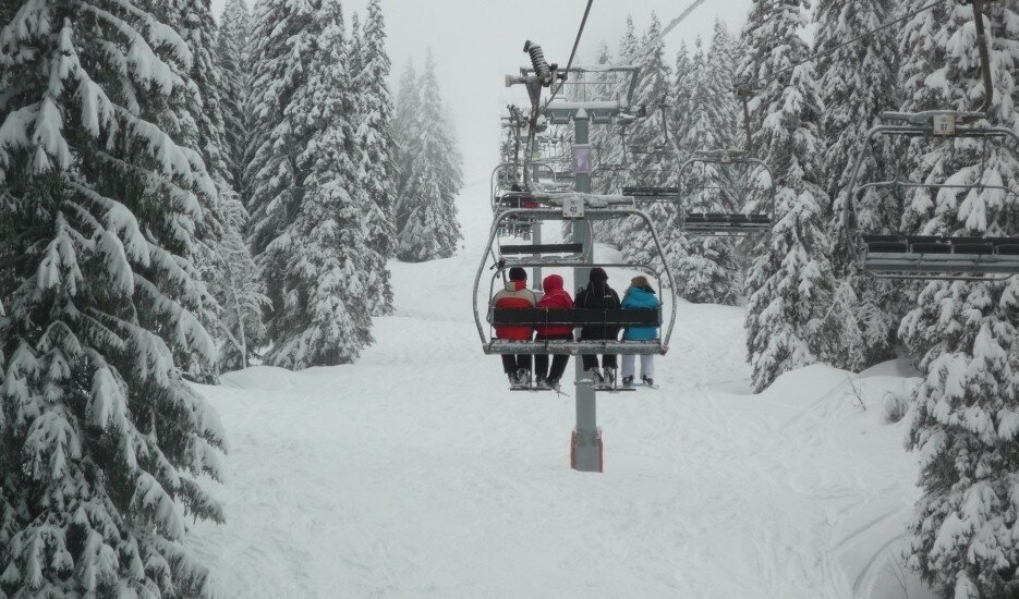 Bad Weather Skiing Morzine