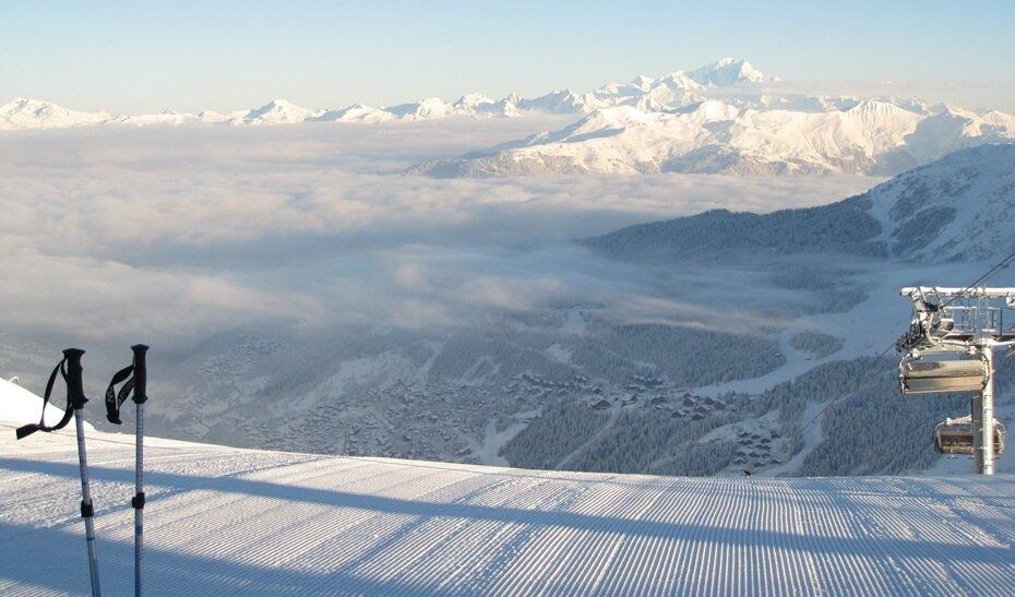 corduroy snow at the top of tougnete