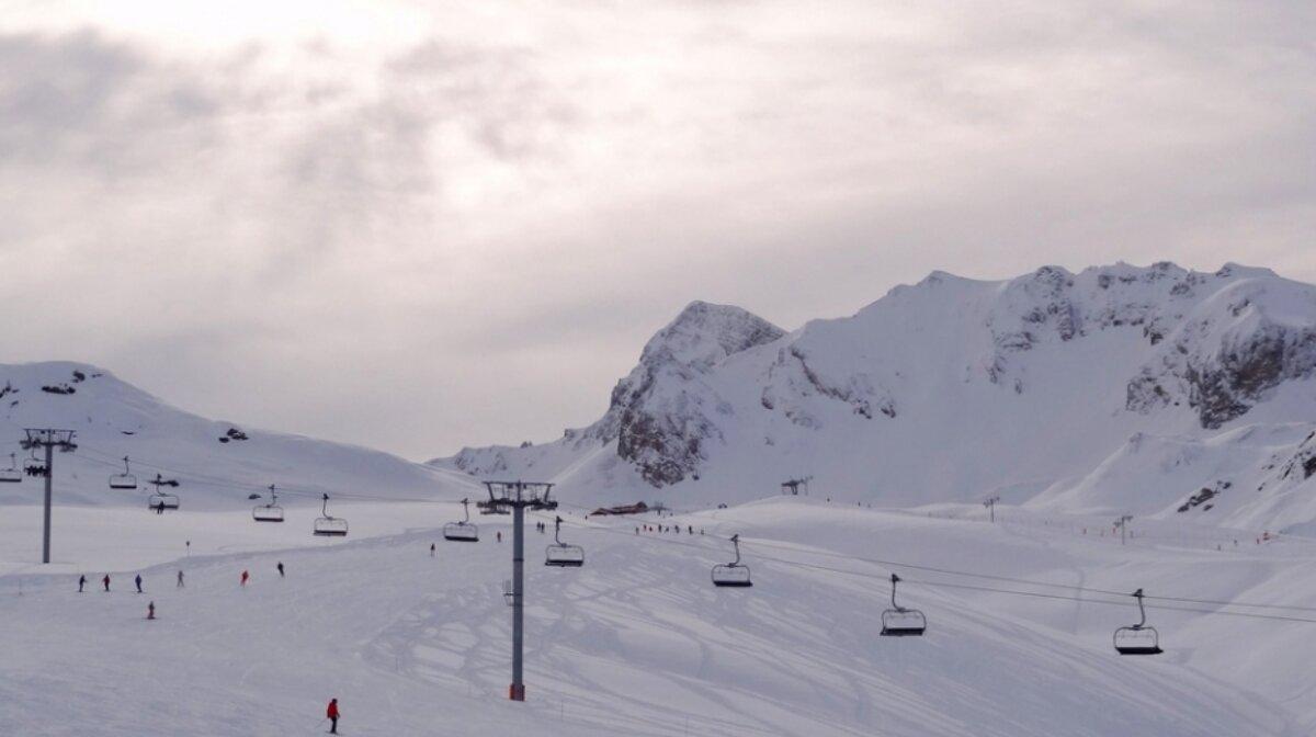 ski area in courchevel