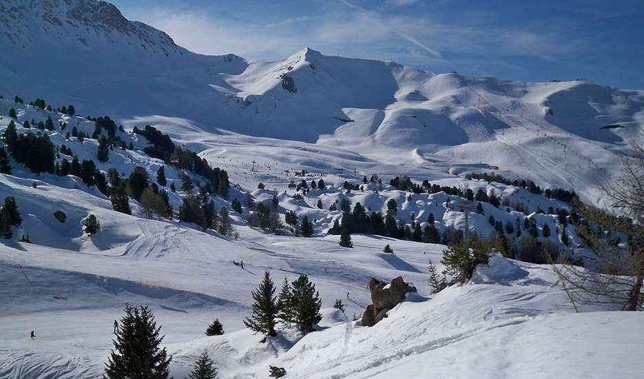 Plagne Centre slopes from Bellecote
